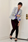 Madewell-blazer-gap-pants-blouse-pointy-pumps-nine-west-heels