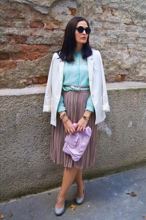 H&M blazer - Zara blouse - Zara belt - Forever 21 skirt