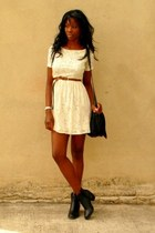 ivory skater lace Zara dress