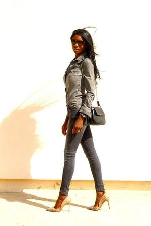 charcoal gray Zara jeans