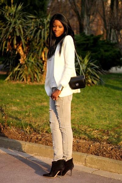 off white Zara blazer