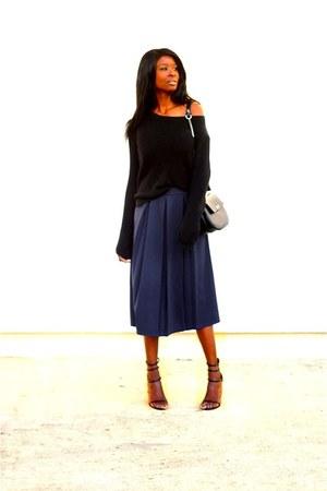 navy Boohoo skirt