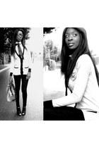 black sliml H&M pants