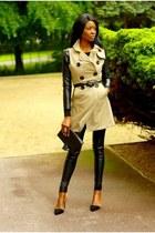leather Bershka pants