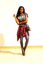 black Missguided heels