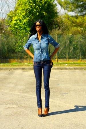 blue Esprit shirt