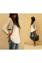 silver Zara heels