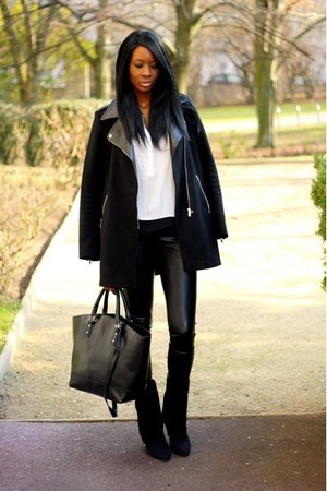black Camaïeu coat