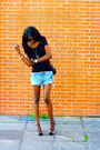 Blue-h-m-shorts