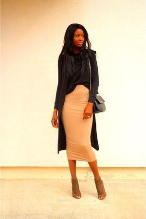 camel Missguided skirt