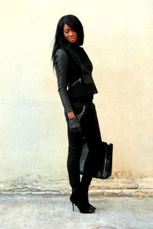 black leather Zara jacket