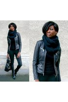 black leather biker New Yorker jacket