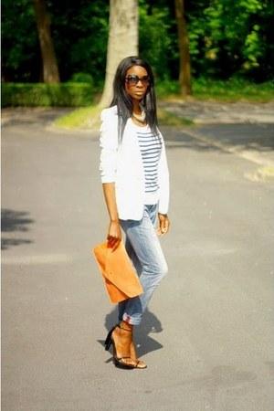 white Zara blazer - black fabiana Alexander Wang sandals
