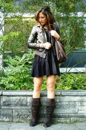 clockhouse dress - H&M jacket - Ochsner shoes