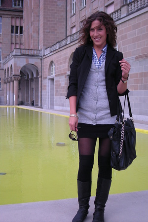 Bershka socks - Avant premiere purse - H&M vest - Bata shoes
