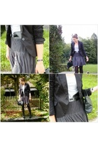 Lefties blazer - H&M skirt - vintage purse