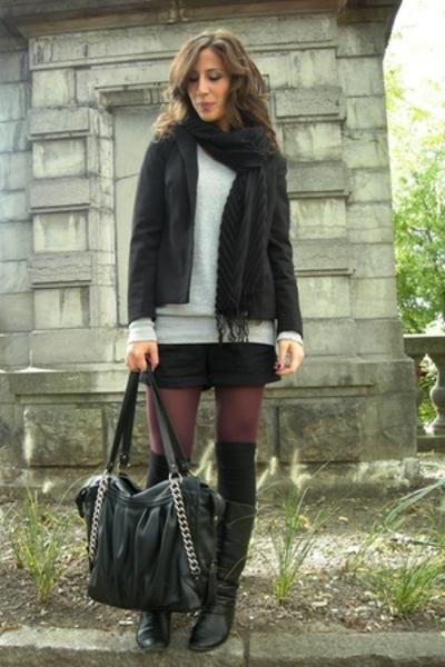 Avant premiere purse - Avant premiere tights - Vero Moda sweater - H&M scarf