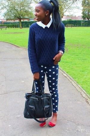Republic jeans - Topshop bag - Zara flats - H&M jumper