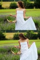 white peasant Mango dress
