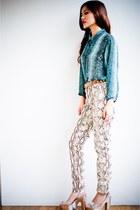 snake print H&M pants - snake print Spor blouse
