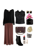 boots - sweater - bag - skirt - vest - ring