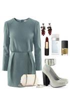 purse - dress - pumps - earrings