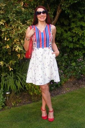 sued Biba shoes - cotton Fever dress