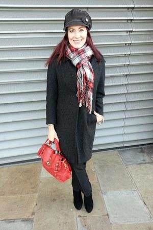 tartan asos scarf - gray wool Damsel in a Dress coat