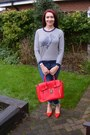 Red-marks-and-spencer-shoes-blue-gap-jeans-white-dickins-and-jones-sweater