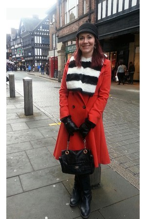 faux fur asos scarf - Jasper Conran for Debenhams coat - Ri2K bag