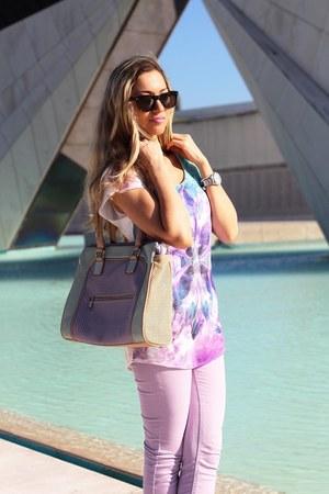 Pimkie blouse - Pimkie jeans - Aldo bag
