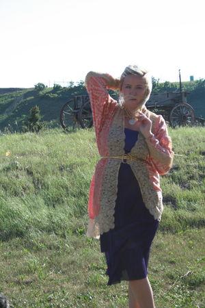 pink vintage cardigan - purple DExterior dress
