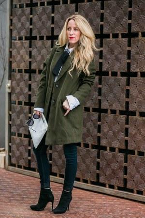 Sheinside coat - Zara boots - asos tie - aos t-shirt