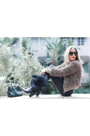 Dolce Vita boots - Zara jeans - Rebecca Minkoff bag - Karen Walker sunglasses