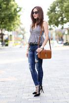 Zara top - Express jeans - Aquazzura pumps
