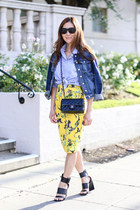 Guess jacket - J Crew shirt - J Crew skirt - Sigerson Morrison sandals