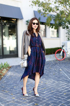 Anthropologie dress - Juicy Couture blazer - SANDRO bag - Super sunglasses