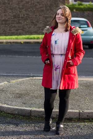 red Dorothy Perkins coat