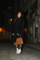 Betsey Johnson coat - Celine bag - Alyssa Nicole top - Zara heels