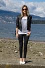 Dark-gray-zara-jeans-black-forever-21-jacket-silver-botkier-bag