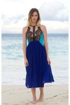 blue Three Floor dress