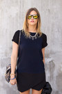 Black-sam-edelman-boots-navy-zara-t-shirt-black-necessary-clothing-skirt