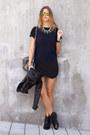 Black-sam-edelman-boots-navy-zara-t-shirt-black-necessary-clothing-skirt