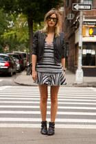 black sam edelman boots - charcoal gray Three Floor dress