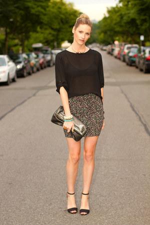 pink Aritzia skirt - black Zara shirt