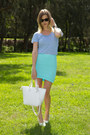 White-zara-bag-aquamarine-sheike-skirt-sky-blue-witchery-top