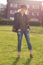 Blue-zara-jeans-silver-botkier-bag-gold-zara-loafers-army-green-zara-top