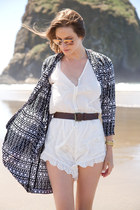dark gray River Island jacket - white spell romper