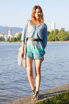light blue spell romper