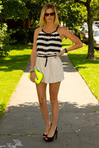 yellow Zara bag - cream Zara skirt - Forever 21 top